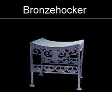 Hocker aus Bronze