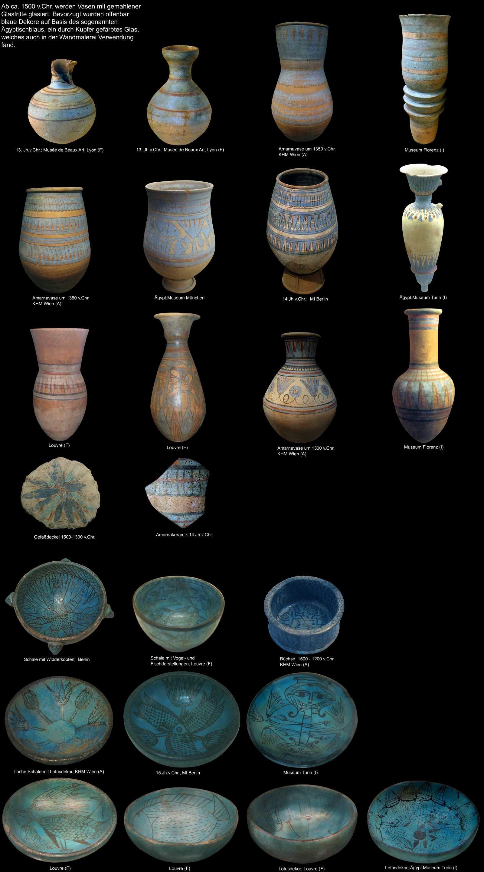 Gyptische Keramik, Keramische Stcke Der Alten Gypter-8697